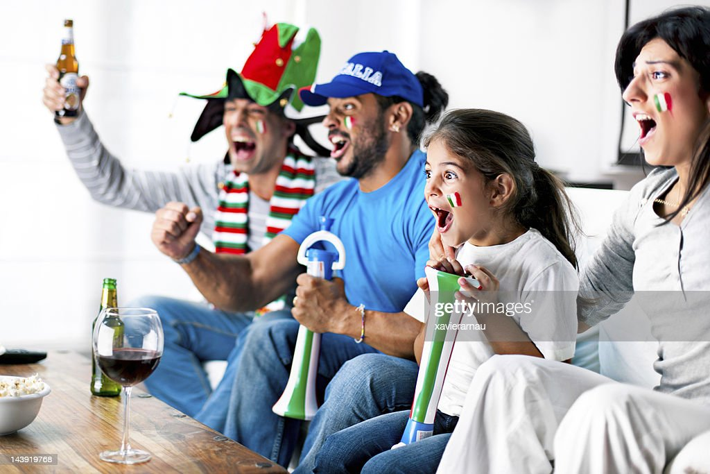 Italian supporters : Stock Photo