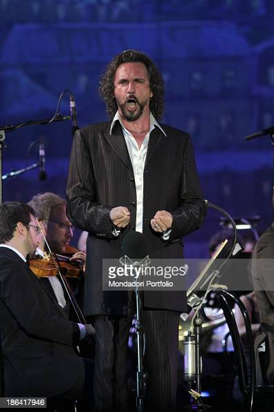Italian tenor Fabio Armiliato performing at the International Opera Oscars Torre del Lago Puccini 2nd August 2012