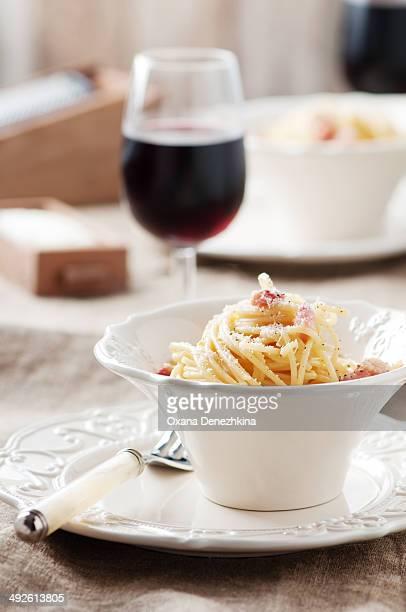 Italian traditional pasta carbonara