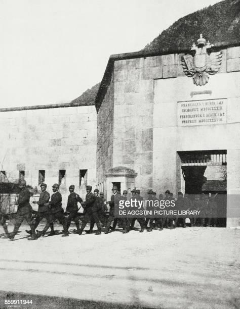 Italian troops in the Habsburg fortress of Fortezza TrentinoAlto Adige Italy World War I from l'Illustrazione Italiana Year XLV No 48 December 1 1918