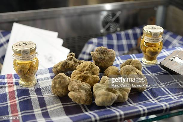 italian truffles shown on a shop at FICO during the press preview at CAAB FICO Agro Food Center on November 9 2017 in Bologna Italy Fico it's the...