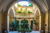 Italian Villa entrance in the old side of Bari, south of Italy
