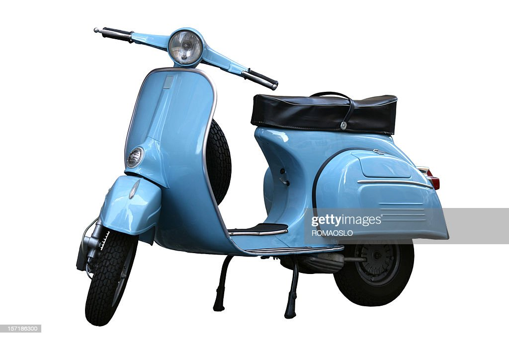 Italian vintage scooter in Rome, Italy