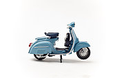 Italian vintage scooter isolated on white