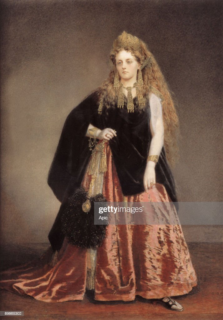 Italian Virginia Oldoini countess of Castiglione she was the spy of french emperor NapoleonIII dressed as the queen of Etruria for a ball on february...
