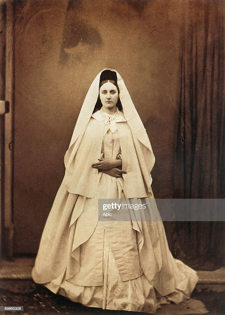Italian Virginia Oldoini countess of Castiglione she was the spy of french emperor NapoleonIII here photo by PierreLouis Pierson 18561857 called the...