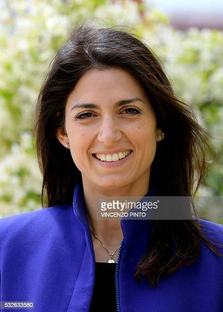 Italian Virginia Raggi candidate of the Five Star Movement for the election of mayor of Rome poses on May 19 2016 during an interview in Rome / AFP /...