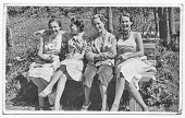 Women friends in 1934 NOTE FOR INSPECTOR: As others similar approved  model and property release I submitted, also in this it's not possible to have some informations such e-mail, address and telephon