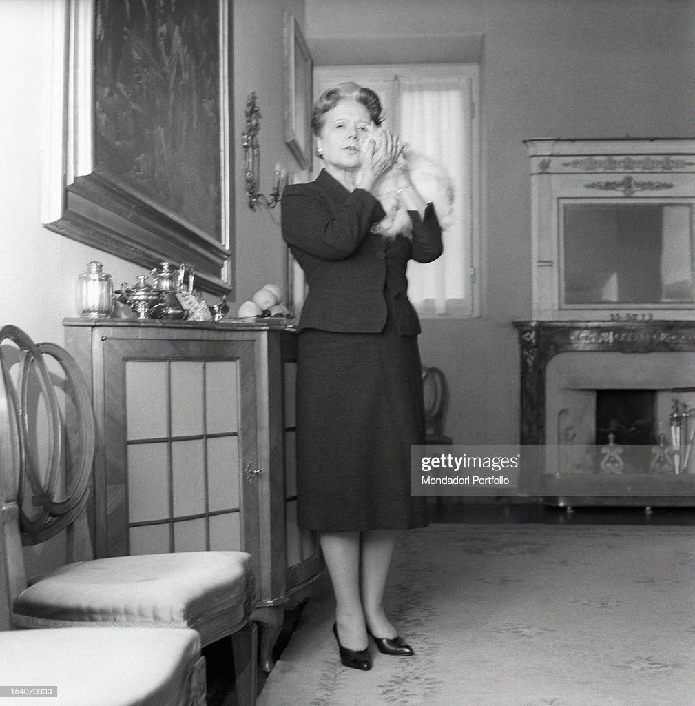anna banti with a cat in her arms pictures getty images