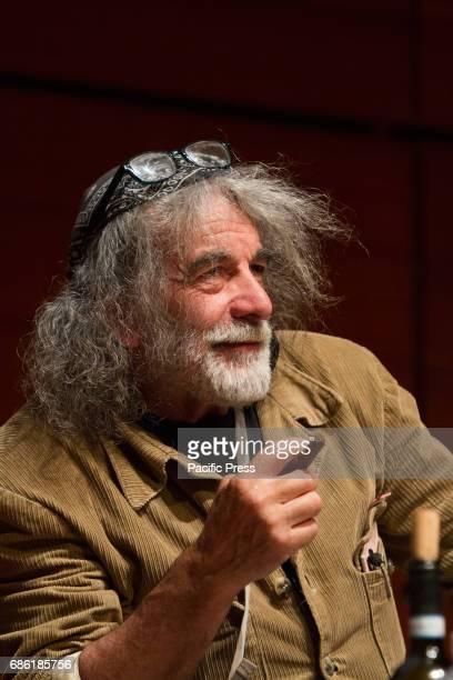 Italian writer Mauro Corona portrayed at 2017 Turin Book Fair