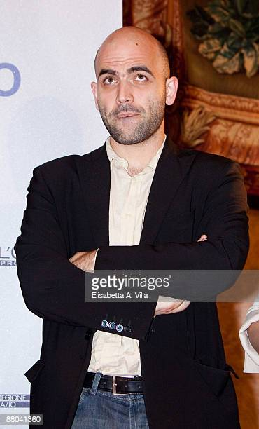 Italian writer Roberto Saviano attends 2009 Nastri D'Argento Nominations Dinner Party at Villa Medici on May 28 2009 in Rome Italy