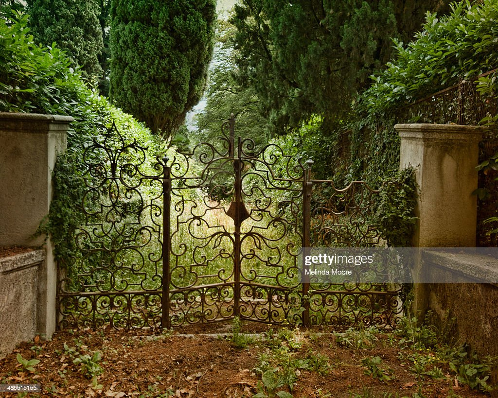 Italian Wrought Iron Gate with Garden Path