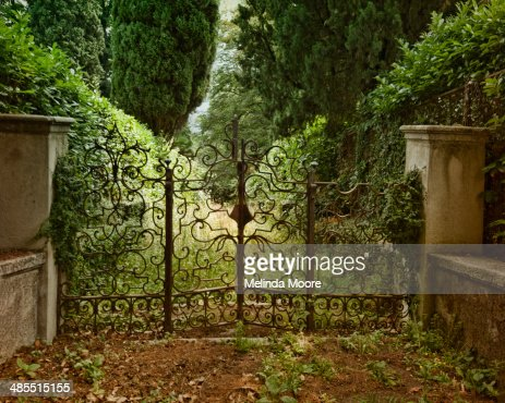 Italian Wrought Iron Gate with Garden Path