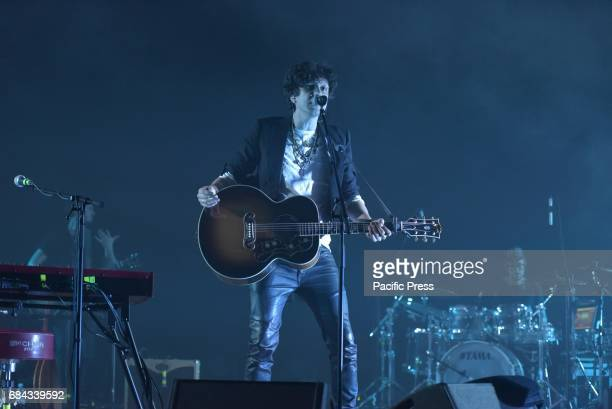 ItalianAlbanian singersongwriter Ermal Meta performs live at Theatre Acacia in Napoli