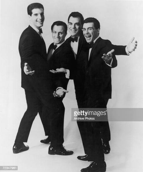 ItalianAmerican vocal group The Four Seasons circa 1963 Left to right Bob Gaudio Tommy DeVito Nick Massi and Frankie Valli