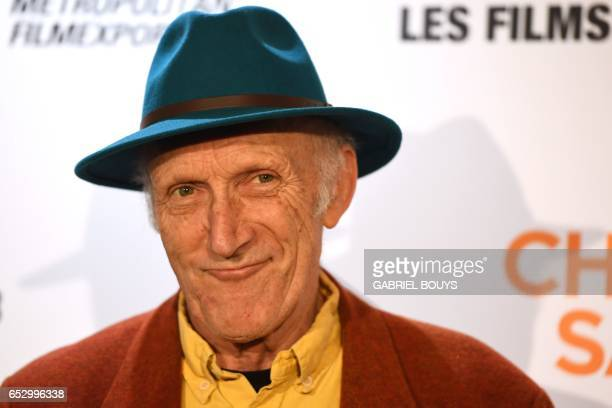 ItalianFrench actor Rufus poses during the photocall for the premiere of the film 'Chacun Sa Vie' in Paris on March 13 2017 The film is directed by...
