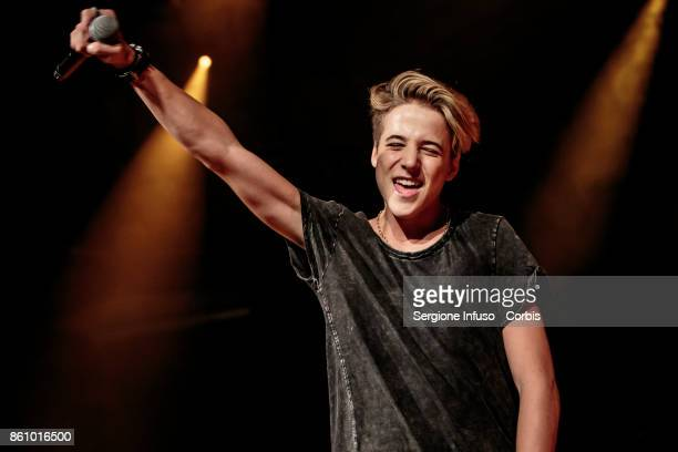ItalianGerman singer Matteo Markus Bok opens the concert of American singer and internet personality Jacob Sartorius on October 13 2017 in Milan Italy