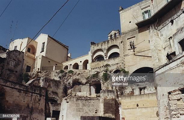 Italien Basilikata Matera Sassi Wohnhaeuser