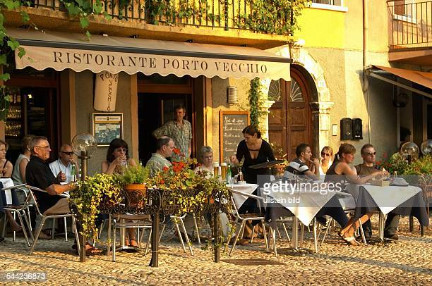 Italien Gardasee Restaurant 'Porto Vecchio' in Malcesine
