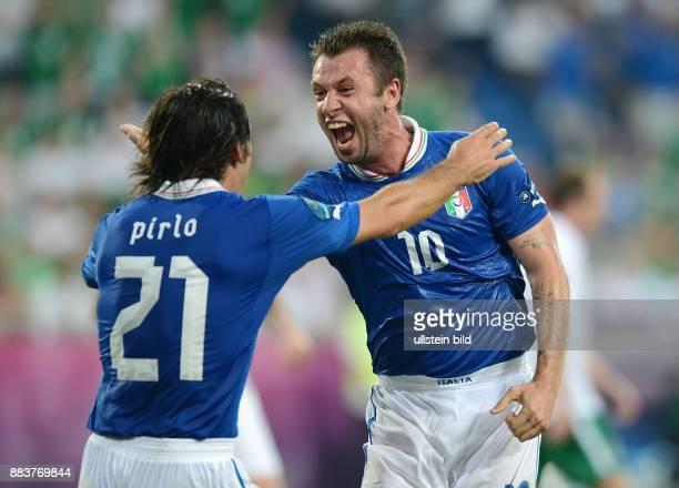 FUSSBALL EUROPAMEISTERSCHAFT 0 Andrea Pirlo und Antonio Cassano