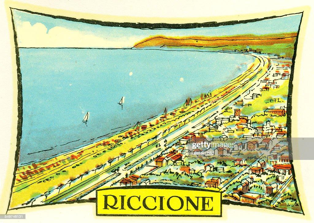 Italien Riccione Italienischer Badeort am Mittelmeer Provinz Rimini