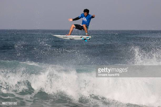 Italo Ferreira from Brazil performs during the Quicksilver Pro France surf competition on October 12 2017 in Hossegor France he French stage of the...
