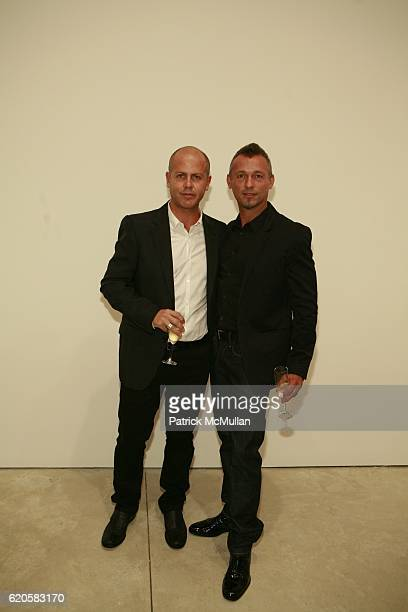 Italo Zucchelli and Quin Aluni attend LOUIS XIII Celebrates WALLPAPER'S Guest Editor LOUISE BOURGEOISE with HELMUT LANG at Cheim Reid and Glasshouses...