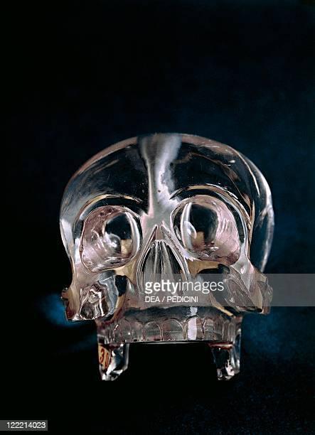 Italy 17th century Quartz crystal skull Manufactured in Naples