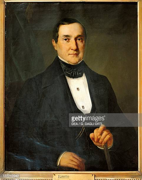 Italy 19th century Portrait of Bartolomeo Merelli Italian impresario and librettist