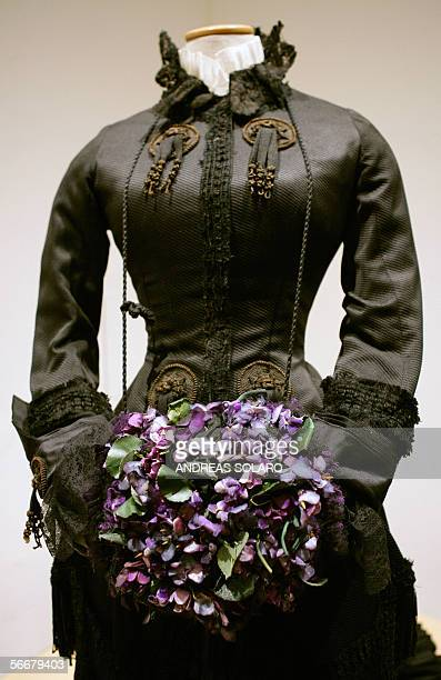 A Piero Tosi's costume weared in 'Ludwig' by Italian director Luchino Visconti during an exhibition of theatre and cinema costumes created by italian...