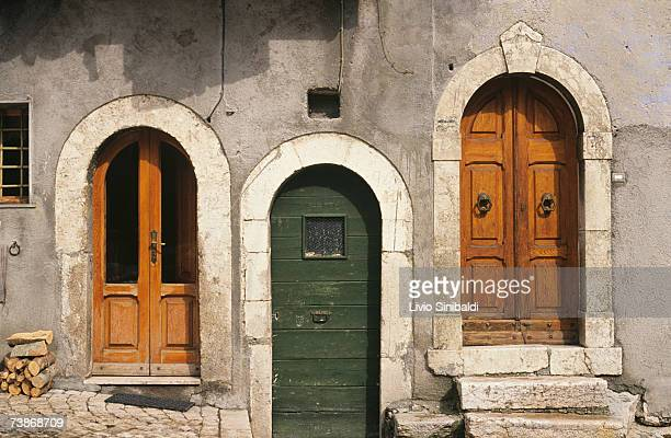 Italy, Abruzzo National Park, Opi, Old building, close-up