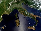 'Just a few days shy of the first day of summer, and still the Alps that tower over northern Italy are holding on to snow. To the south, in the Mediterranean Sea, sun is glinting off the waters east o