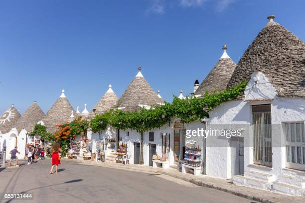 Italy Apulia Alberobello Trulli Typical Houses