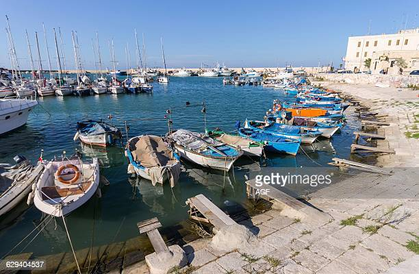 Italy Apulia Bisceglie The Harbour