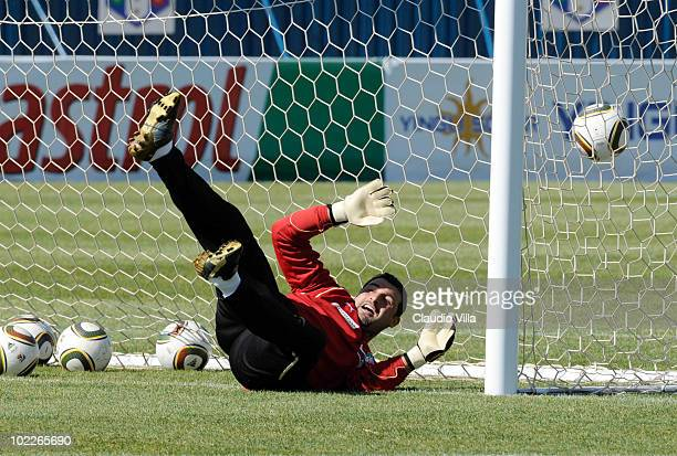 Italy Assistent Coach Angelo Peruzzi in action during Training for the 2010 FIFA World Cup on June 21 2010 in Centurion South Africa