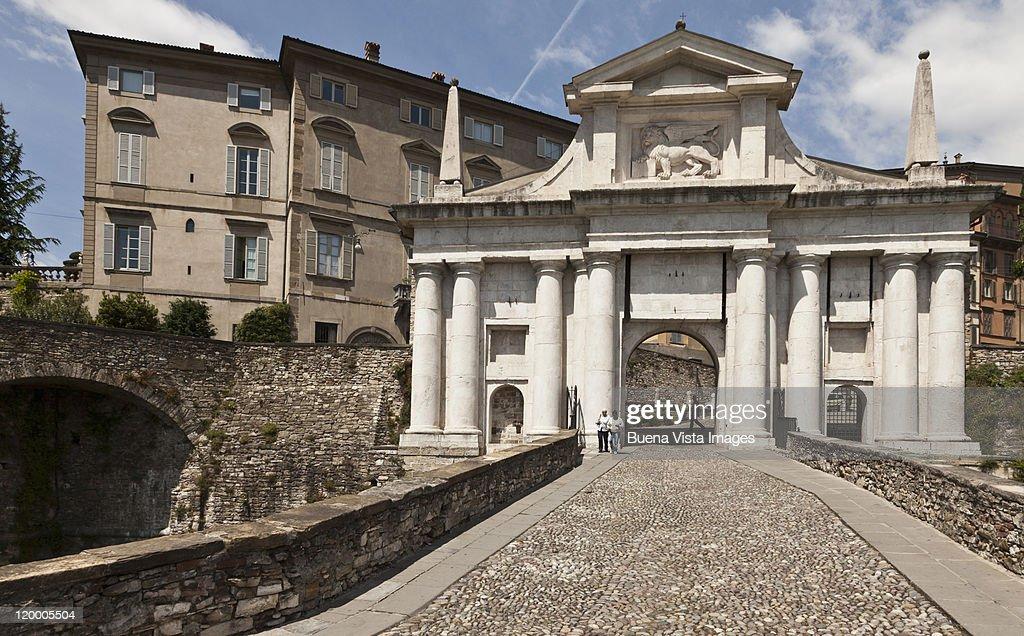 Italy. Bergamo. The old town. : Stock Photo