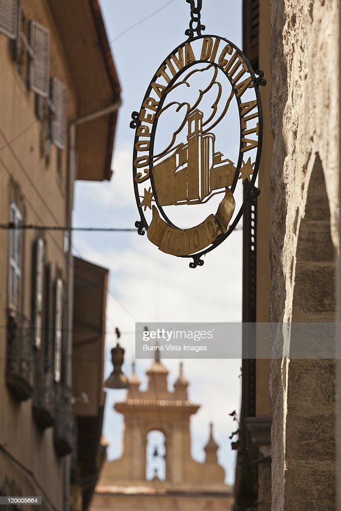 Italy. Bergamo. The Old Town : Stock Photo