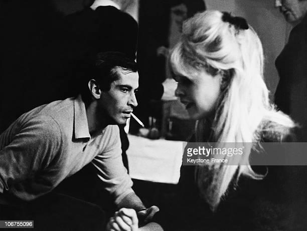 Italy Brigitte Bardot And Roger Vadim Dancing The Twist In 1962