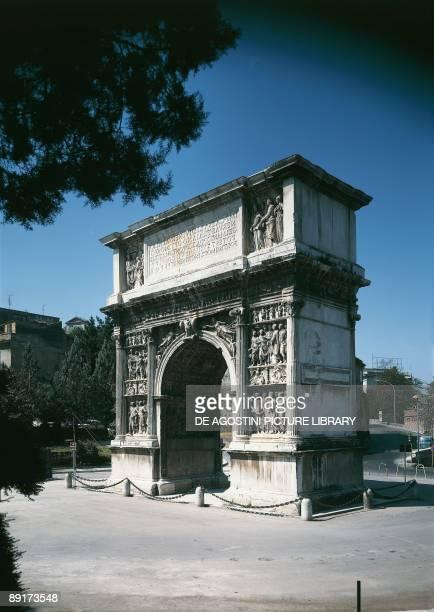 Italy Campania Benevento The Arch of Trajan