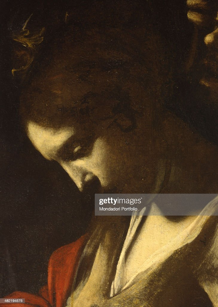 Italy, Campania, Naples, Zevallos Stigliano Palace. Detail. The face of the holy girl seen in profile.