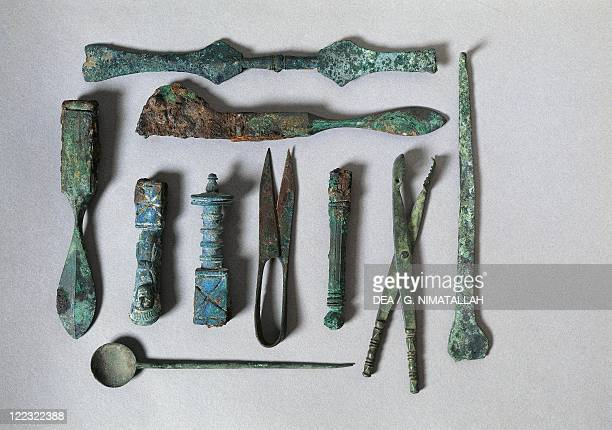 Italy Campania Pompeii Surgical instruments from the House of the Surgeon