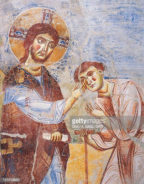 Italy Campania region Caserta province Sant'Angelo in Formis Basilica of San Michele Right wall of the nave Byzantine style frescos 10721078 Stories...