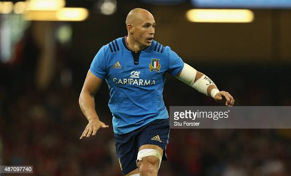 Italy captain Sergio Parisse in action during the International match between Wales and Ireland at Millennium Stadium on September 5 2015 in Cardiff...