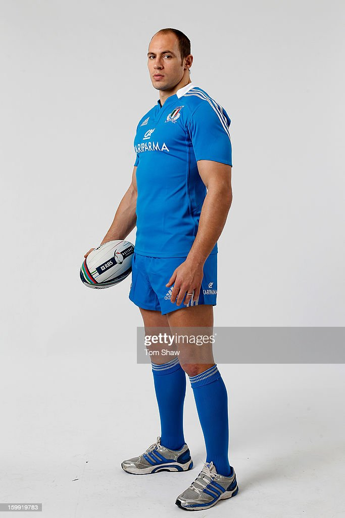 Italy captain Sergio Parisse poses during the RBS Six Nations launch at The Hurlingham Club on January 23, 2013 in London, England.