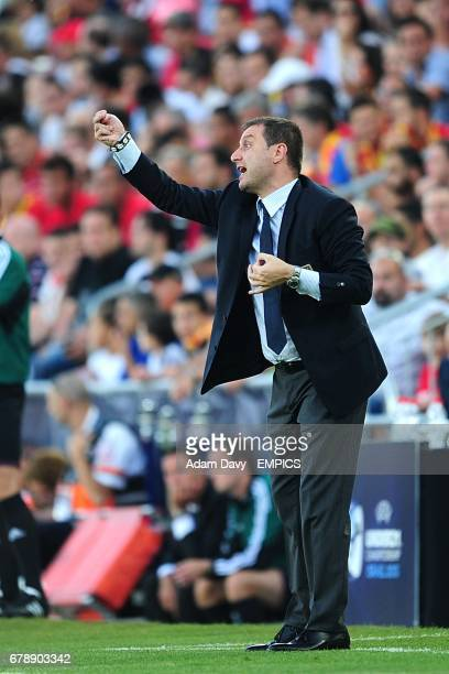 Italy coach Devis Mangia gestures on the touchline
