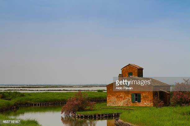 Italy, Comacchio, mansions of the valley