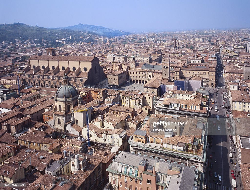 Italy, Emilia-Romagna, Bologna, view of city from tower : Stock Photo