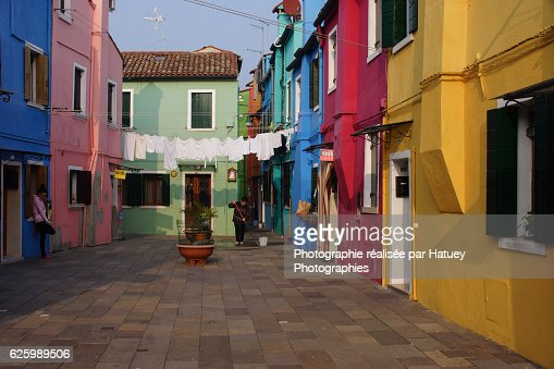 Italy, Facades of Houses in Burano