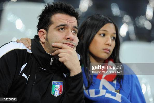 Italy fans are dejected after only managing a draw in the 2010 FIFA World Cup South Africa Group F match between Italy and New Zealand at the...