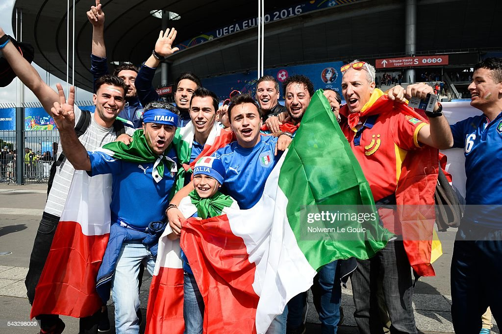 Italy fans during the European Championship match Round of 16 between Italy and Spain at Stade de France on June 27, 2016 in Paris, France.